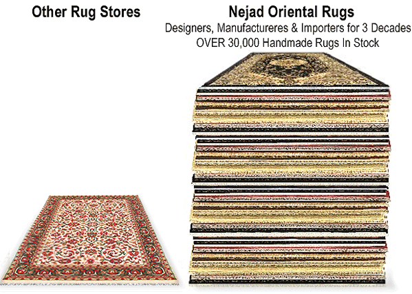 Nejad has over 30,000 Rugs in stock!