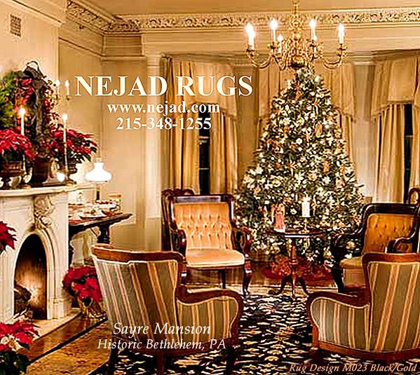 Holiday decor - Sayre Mansion, Bethlehem PA